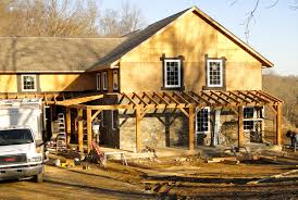 Colonial Farmhouse With Wrap Around Porch by Timber Frame Archives Hugh Lofting Timber Framing U0026 High