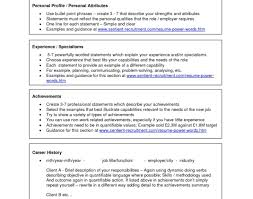Top 100 Power Words For by 100 Personal Profile Resume Resume Style Examples Of