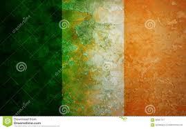 Irrland Flag Ireland Flag Grunge Texture Illustration Stock Illustration