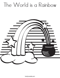 rainbow pot of gold coloring pages the world is a rainbow coloring page twisty noodle
