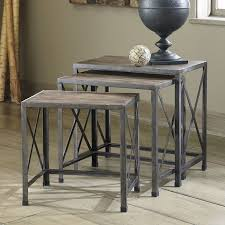 Driftwood Outdoor Furniture by Rustic Accents Nesting End Tables Driftwood Signature Design By