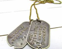 customized dog tag necklaces dogtag necklace etsy
