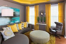 excellent ideas yellow curtains for living room chic design gray