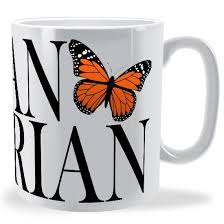 personalised butterfly name text wrap mug brinley williams
