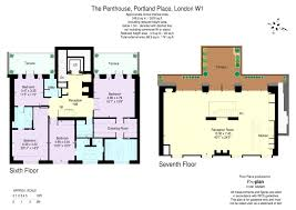 Gatwick Airport Floor Plan by 4 Bed Flat For Sale In Penthouse Portland Place Marylebone