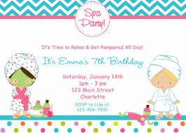 14th birthday party invitations spa birthday party invitation spa party spa birthday