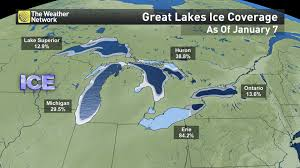 Map Of Lake Superior News See A Nearly Frozen Lake Erie Before It Starts To Melt