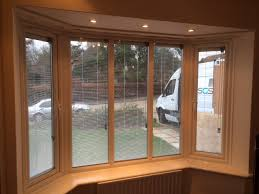 3 section bay window with venetian integral blinds in sealed units