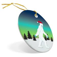 rugby porcelain ornament abominable snowman chalktalksports