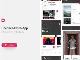 cherise mobile app template sketch free psds u0026 sketch app