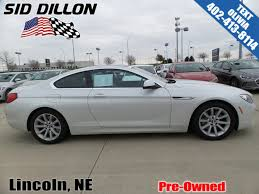 pre owned 6 series bmw pre owned 2013 bmw 6 series 640i 2 door coupe in lincoln 4n71104a