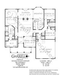 ranch style floor plans chatham a house plan house plans by garrell associates inc