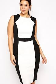 plus size black and white dress pluslook eu collection
