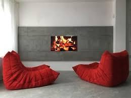 genuine red design ligne roset one seater togo sofa longue chair