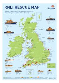 English Channel Map For Those In Peril On The Sea Rnli Rescue Map Of Great Britain