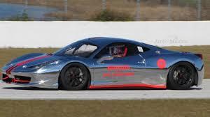Ferrari 458 Challenge - chrome ferrari 458 challenge hits the racetrack
