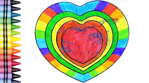 heart coloring pages coloring hearts for kids learn colors