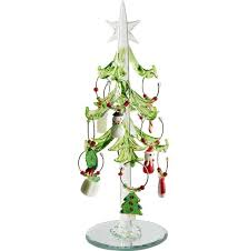 the aisle glass tree with wine markers ornaments