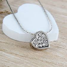 diamond studded diamond studded heart pendant at best prices in india