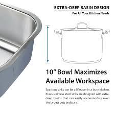 How To Measure For A Kitchen Sink by Kraus Kbu14 31 1 2 Inch Undermount Single Bowl 16 Gauge Stainless