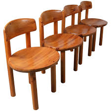 rainer daumiller set of eight dining chairs in solid pine for sale