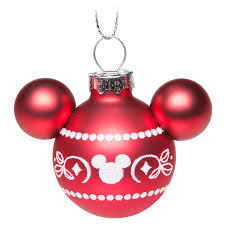 your wdw store disney ornament set mickey icons red and