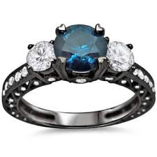 black and blue wedding rings black blue wedding rings for less overstock