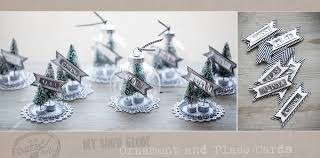 diy snow globe ornament and place cards rusted ladle