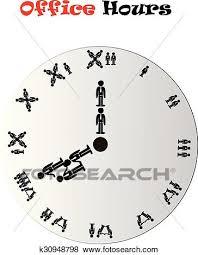 les heures de bureau clipart matin heures bureau conceptuel horloge k30948798