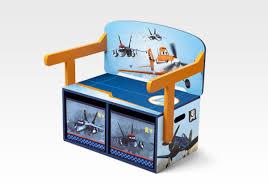bureau 3 en 1 disney planes planes 3 in 1 storage bench desk