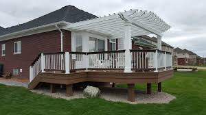Deck Pergola Pictures by Autumnwood Construction Oakland County Michigan Deck Builder