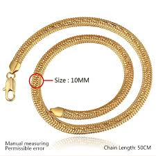 2015 men s jewelry 8mm 60cm new arrival fashion men s necklace 18k yellow gold plated 8mm gold snake chain