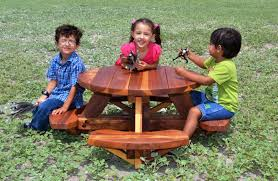 wooden childrens picnic table round wooden picnic tables for kids home decor furniture