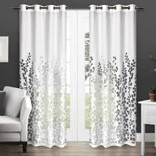 Textured Cotton Tie Top Drape by Amazon Com Exclusive Home Curtains Wilshire Burnout Sheer Grommet