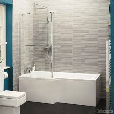 straight shower bath 1700 acrylic white inc front panel