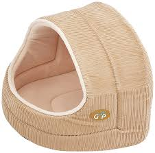 Hooded Dog Bed Gor Pets Hooded Luxury Cat Bed Igloo Large Coral Weave Amazon