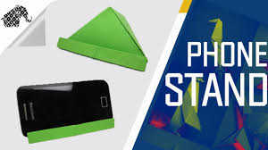 origami how to make an origami phone stand holder youtube
