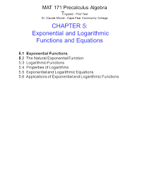 exponential and logarithmic functions and equations ppt download