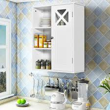 kitchen wall mounted cabinets 2 tier multipurpose wall mounted cabinet bathroom storage