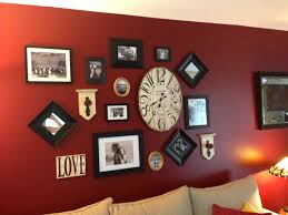 photo gallery of red wall decor home decor ideas