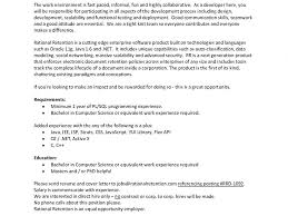 Pl Sql Developer Sample Resume by Experienced Java Developer Resume