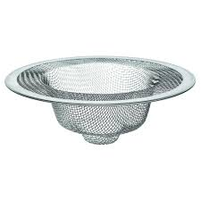 In Mesh Kitchen Sink Strainer In StainlessSteel - Kitchen sink drain plug