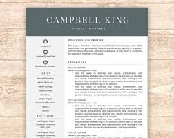 Free Resume Templates For Mac by Free Resume Template Etsy