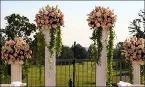 wedding arches and columns wedding flowers from riff flower shop your local lancaster nh