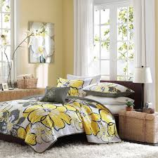 Yellow Patterned Duvet Cover Mi Zone Mackenzie Yellow Printed Quilt Mini Set Free Shipping