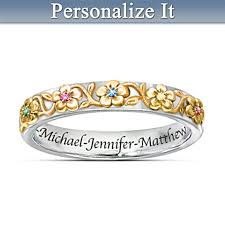 design your own mothers rings personalized mothers birthstone rings