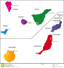 Canary Islands Map Canary Islands Map Stock Image Image 27135981