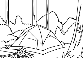 forest coloring page beautiful forest coloring page with forest