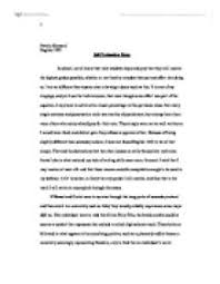 Self Assessment and Reflection Paper   Essays   ID         UNSW Current Students