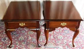cherry end tables queen anne queen anne end table with drawer tables drop leaf stanleyweiss rare
